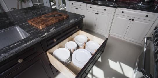 Custom Country Kitchen Birch Drawer Plate Insert 2