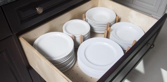 Custom Country Kitchen Birch Drawer Plate Insert