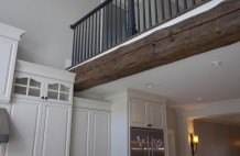 Custom Country Kitchen Exposed Reclaimed Beam