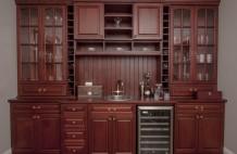 Custom Solid Mahogany Bar Cabinet