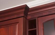 Custom Solid Mahogany Bar Moulding Detail