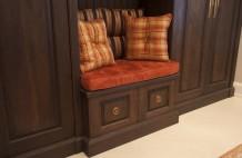 Solid Walnut Cabinet Detail