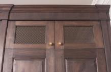 Solid Walnut Cabinet Door Detail