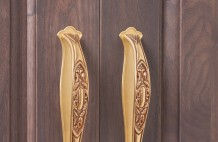 Solid Walnut Cabinet Handle Detail