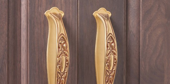 Solid Walnut Cabinet Handle Detail