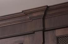 Solid Walnut Cabinet Moulding Detail