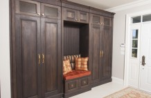 Solid Walnut Entry Cabinet